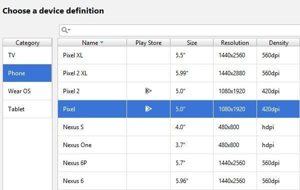 Select Pixel Device