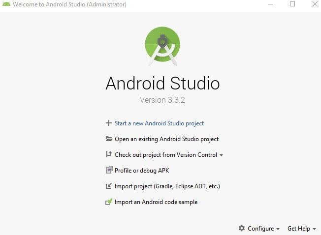 Start new Android Project - Android Studio
