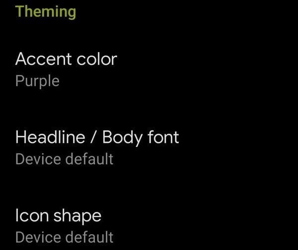 Theming in Android Q