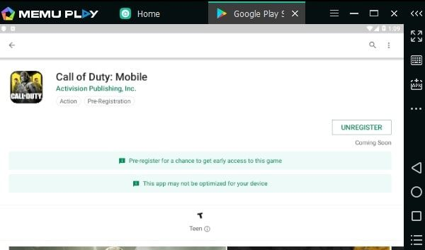 Call of Duty Mobile Play Store