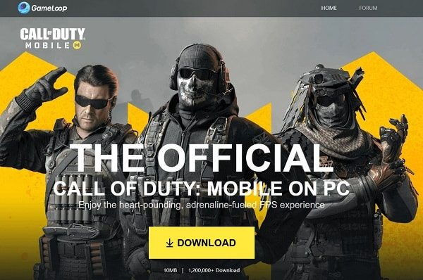 Download Gameloop Emulator for Call of Duty Mobile