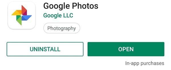 Google Photos Play Store