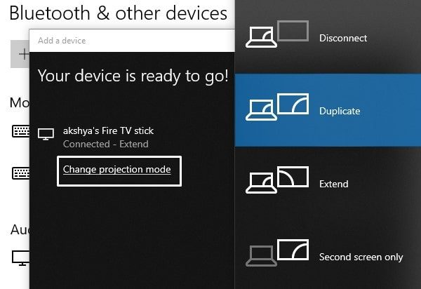 Change Projection Mode