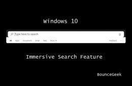 Enable Windows 10 Immersive Search Feature