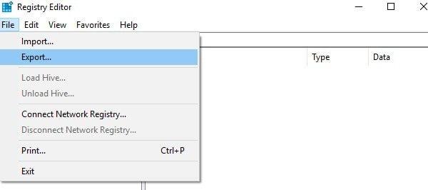 Export Registry Settings - Backup Registry