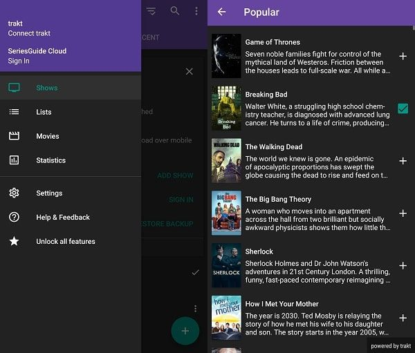 Series Guide App