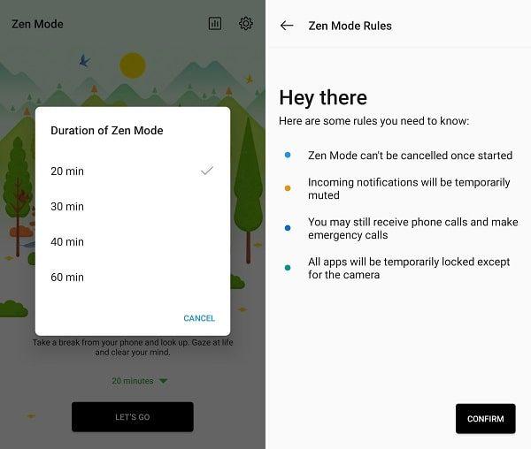 Activate OnePlus Zen Mode
