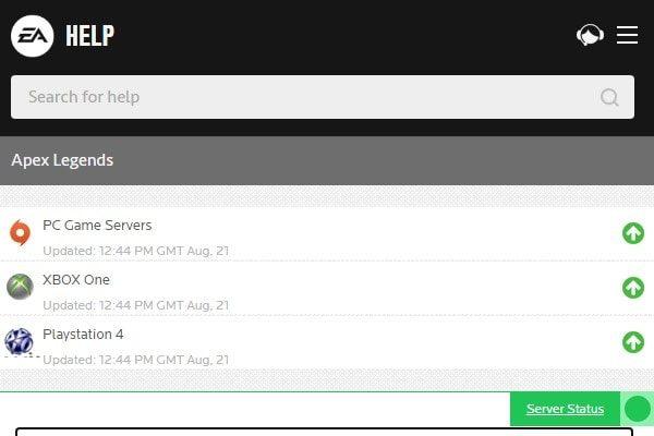 Apex Legends Server Status