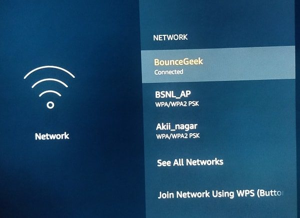 Connect Fire TV Stick with Hotspot