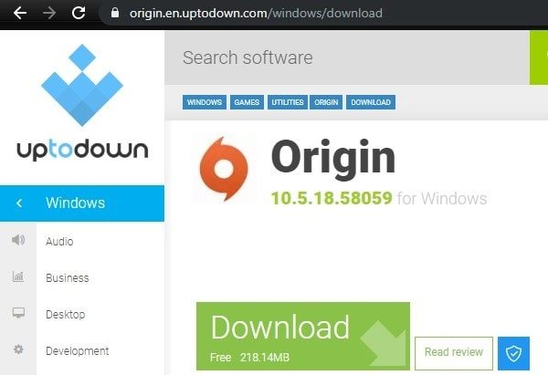 Download Older version of Origin to fix Origin Online login is currently unavailable