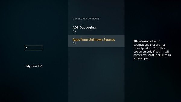 Enable ADB Debugging - Amazon Fire TV Stick
