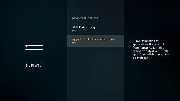 Enable ADB Debugging - Amazon Fire TV Stick