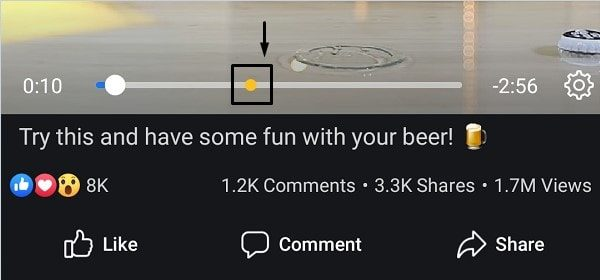 Facebook Video that contains Ads