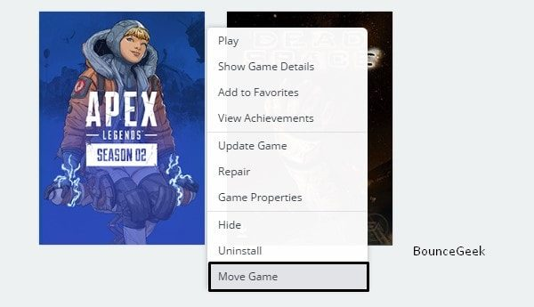 Move Game - Apex Legends Wont Launch