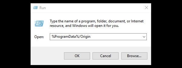 Open Origin Data Folder