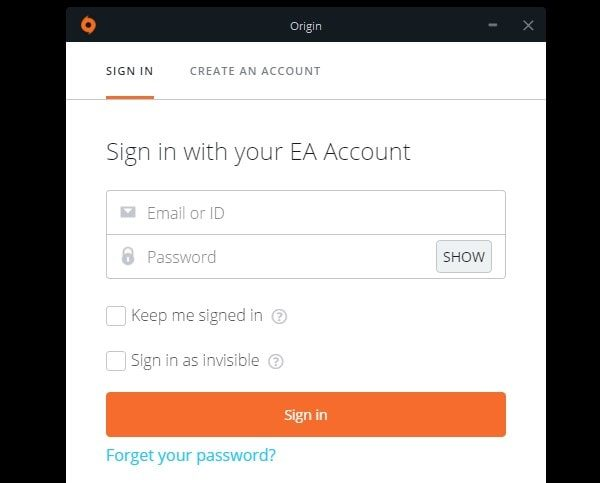 Origin Sign in unavailable fix