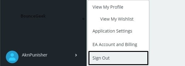 Sign Out Origin Account - Apex Legends Won't Launch
