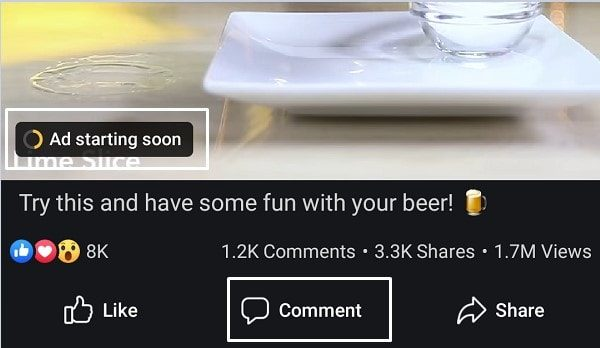 Skip Facebook Mid Video Ads