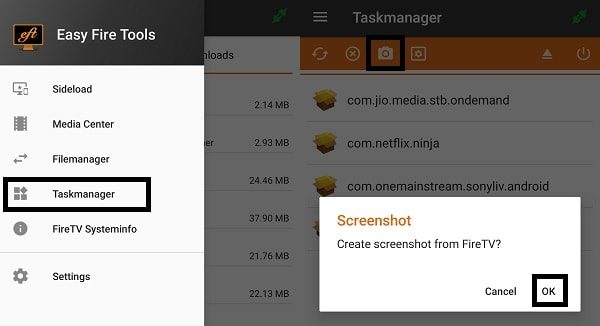 Take a screenshot on Fire TV Stick using App
