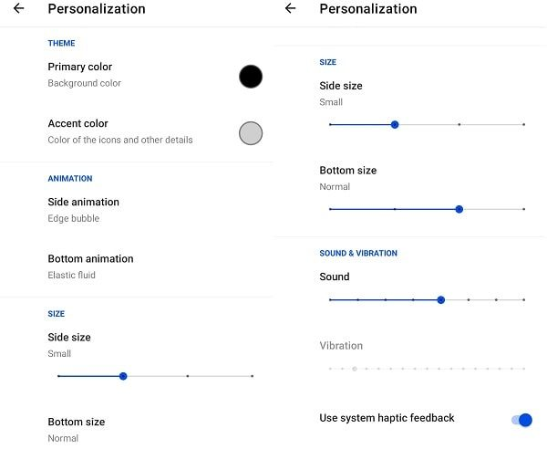 Fluid NG App Personalization