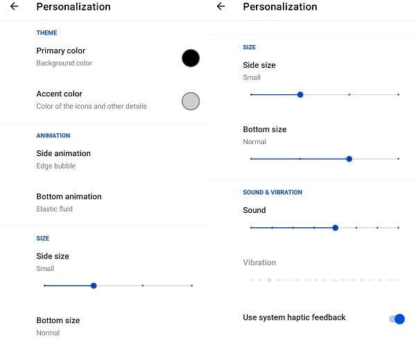Fluid NG App Personalization