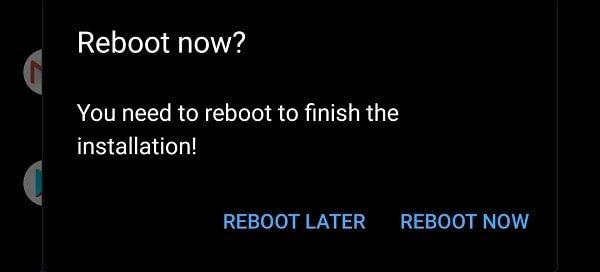 Reboot Now - Swift Installer