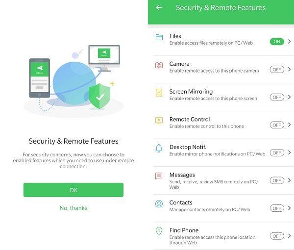 AirDroid App - Desktop Notifications