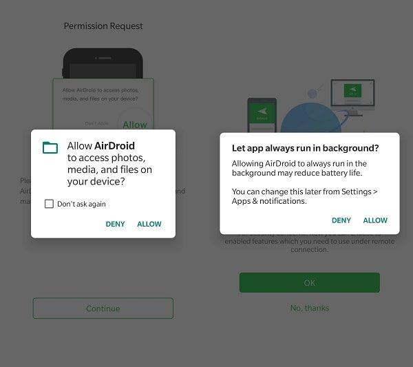 AirDroid App Permission