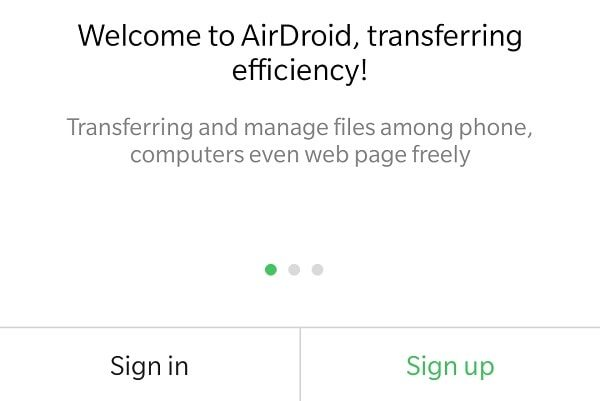 AirDroid Sign up - PushBullet Alternative App