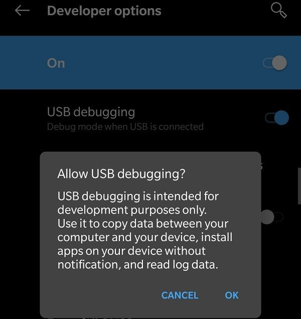 Allow USB Debugging in Android