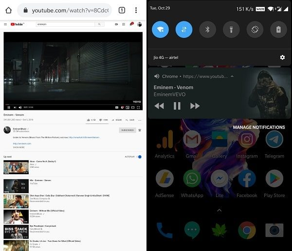 Play YouTube Video in Background - Chrome Browser