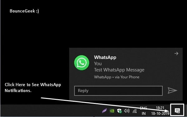Reply WhatsApp Message - Best Pushbullet Alternative
