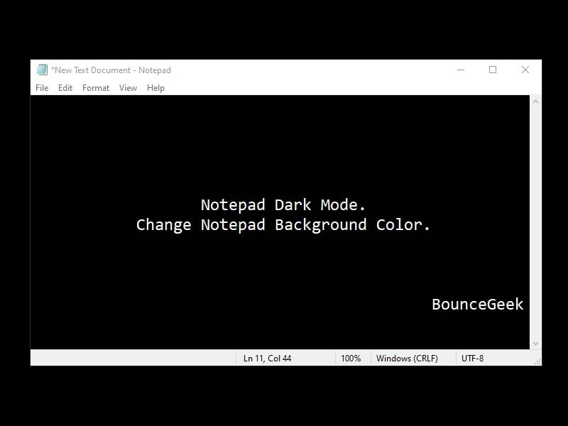 Change Notepad Background Color