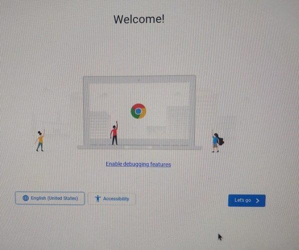 CloudReady Chrome OS Welcome Screen