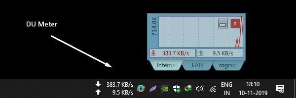 DU Meter Internet Speed Meter for Windows 10
