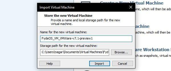 Import Virtual Machine