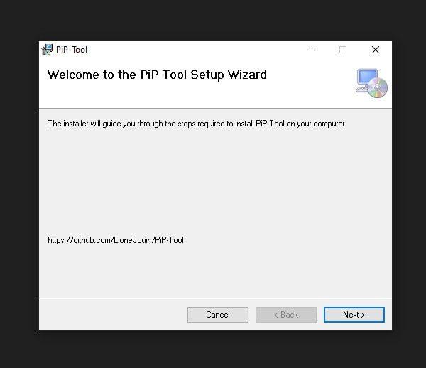 Install PiP Tool Windows 10