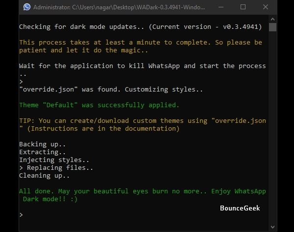 Installing Script - WADark