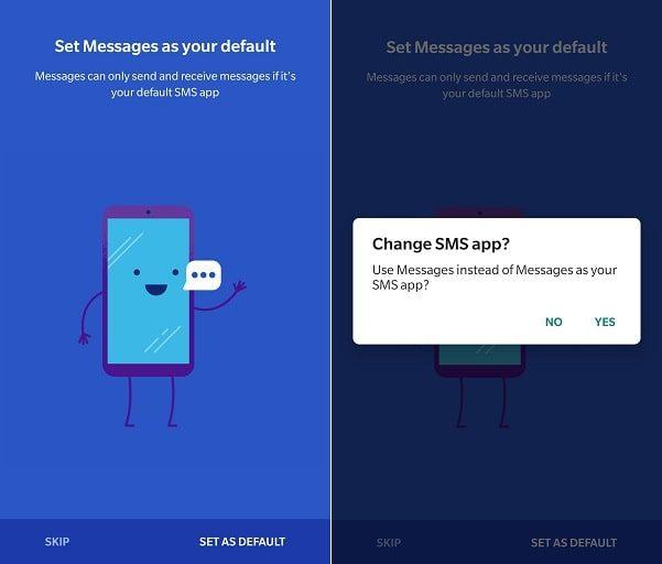 Set Google Messages as your Default App