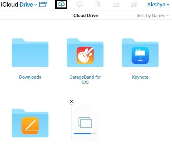 Upload File on iCloud Drive - Transfer Files from PC to iPad