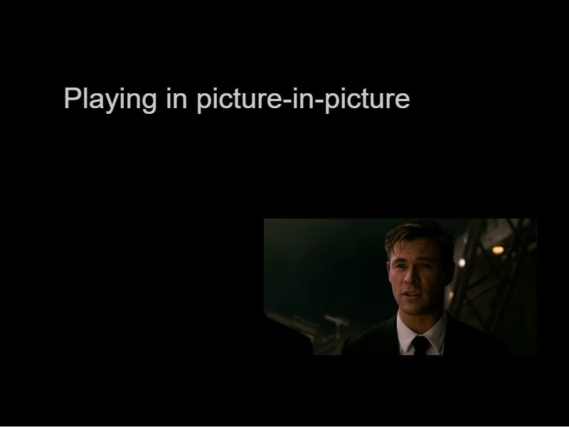 Use Picture in Picture mode Window 10