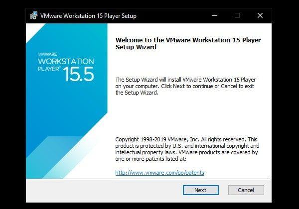 VMware Workstation 15 Setup
