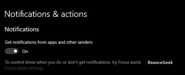 Disable Apps Notifications