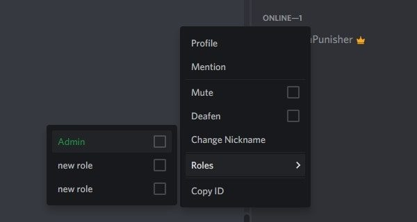 Assign Roles in Discord