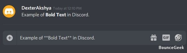 Bold Text in Discord