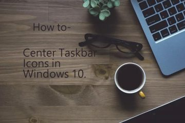 Center Taskbar Icons in Windows 10