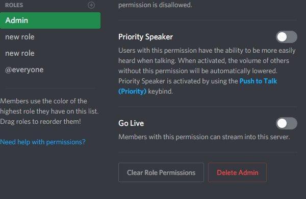 Delete Role in Discord