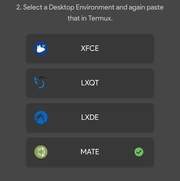 Select Ubuntu Desktop Environment - Mate