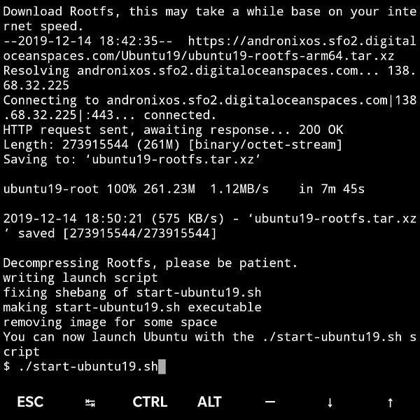 Start Ubuntu Command