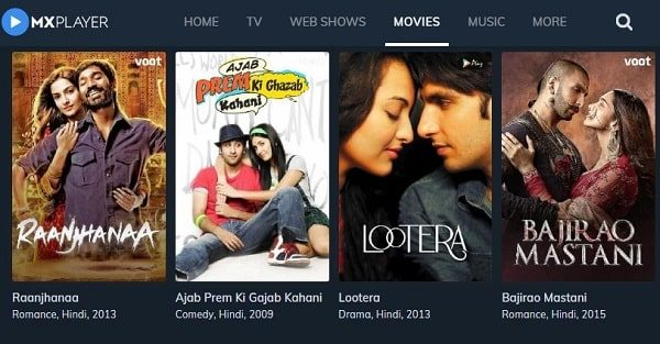 MX Player - Watch Hindi Movies